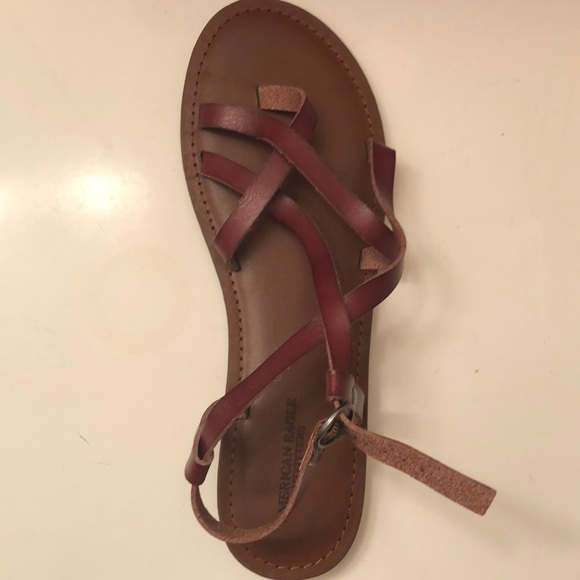 0aa4b439e219 American Eagle Outfitters Shoes - American eagle strappy flat sandals